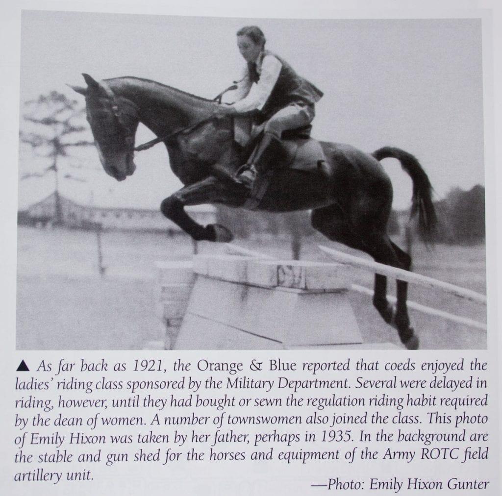 Woman Riding Horse with Description