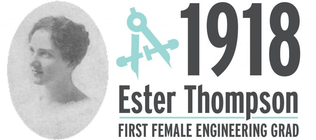 1918 Esther Thompson First Female engineering grad