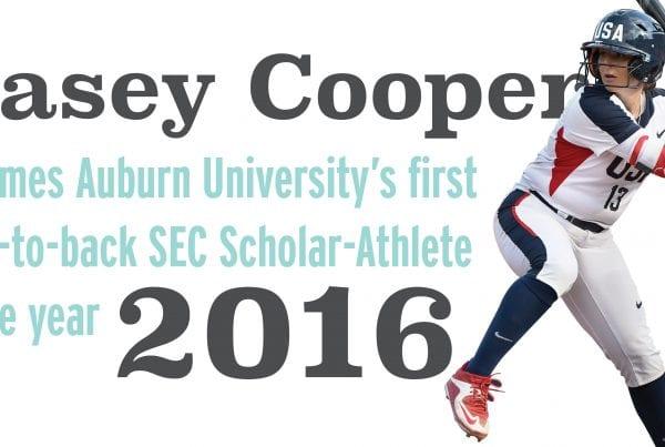Kasey cooper back to back SEC scholar athlete