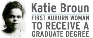 FIRST Auburn Woman to receive a graduate degree