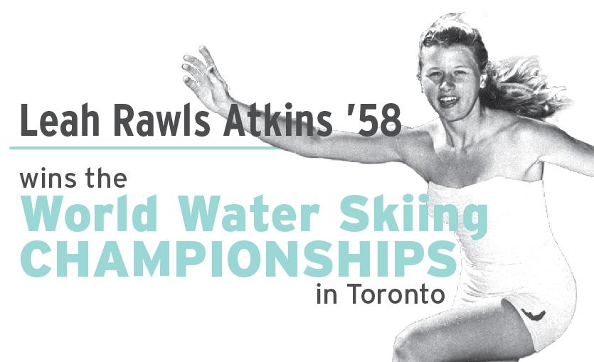 Leah Rawls Atkins wins water skiing championship