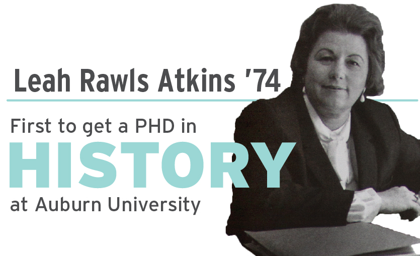 Leah Rawls Atkins first to get PHD in history