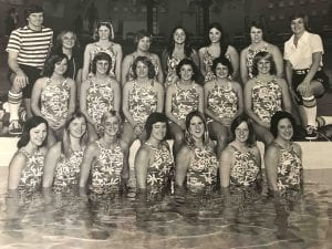 Lisa Ross and first swim team