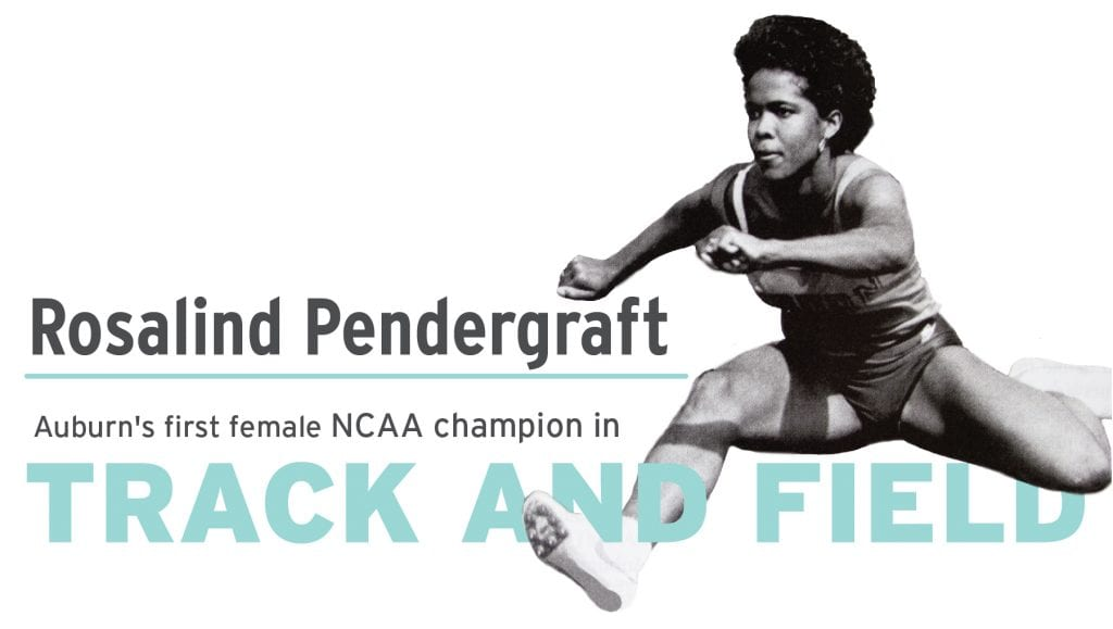 Rosalind Pendergraft Auburn's first female NCAA champion in track and field