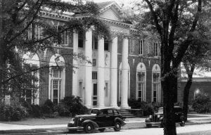 Smith Hall with cars in front