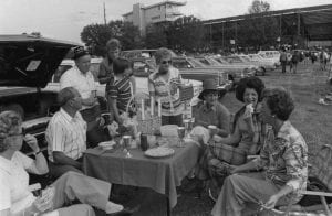 Sue Fincher tailgating with friends