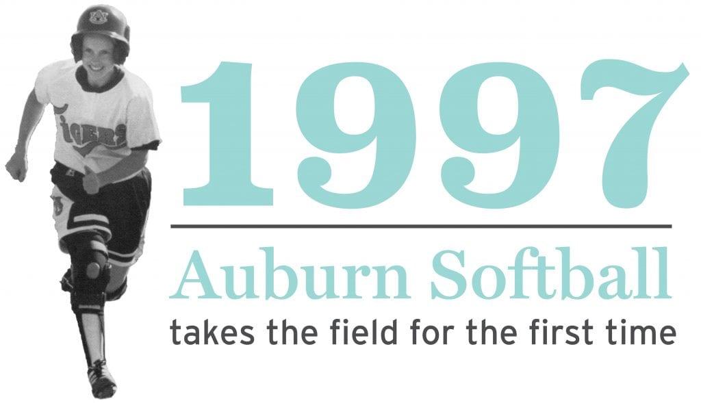 1997 Auburn Softball takes the field