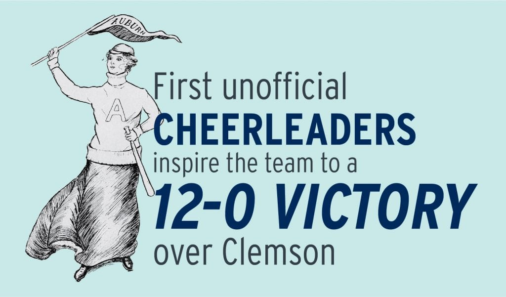 First unnoficial cheerleaders inspire a 12-0 victory over clemson