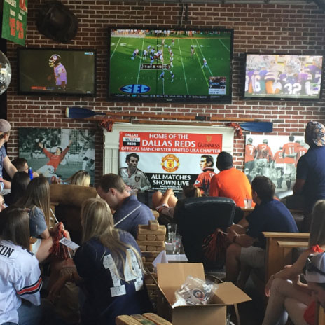 people watching auburn game and game watch party