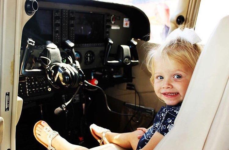 Little Girl in Cockpit