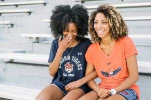 Two Auburn Fans in stadium
