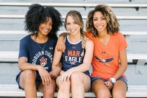 3 Auburn Fans in stadium