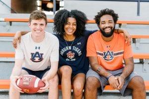 3 Auburn Fans in the stadium
