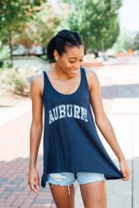 Girl with Auburn Tank on