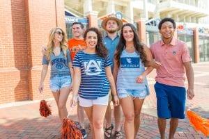 Group of Auburn Fans Walking