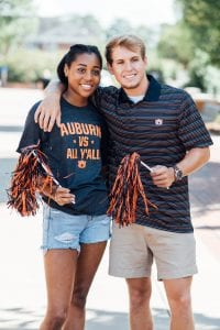 Guy and girl in auburn gear