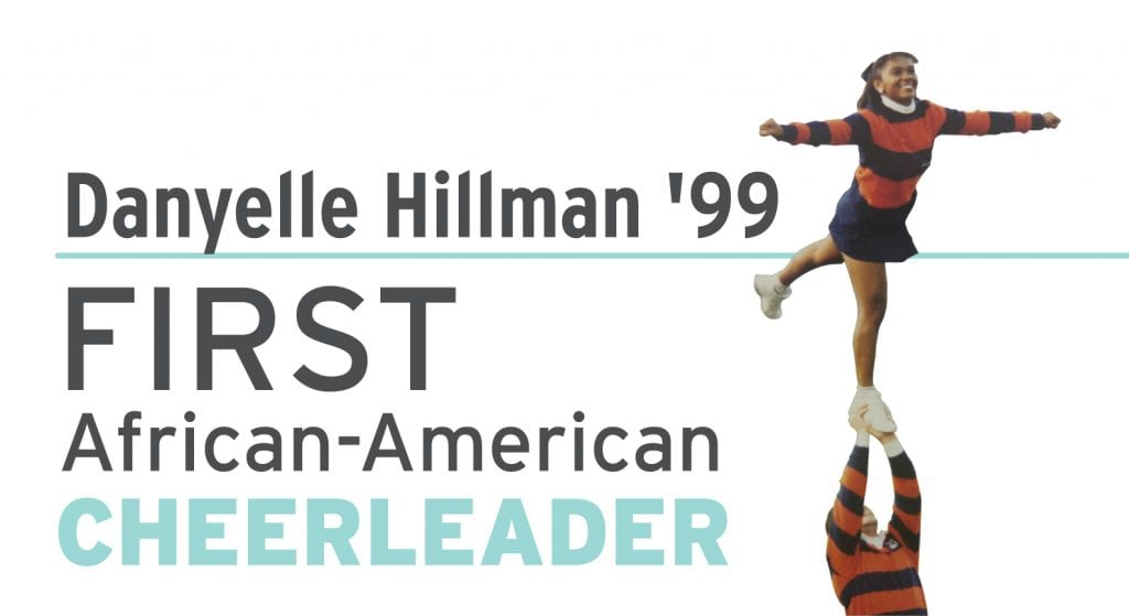 Danyelle Hillman First African-American Cheerleader