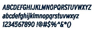 Interstate Condensed Italic Example