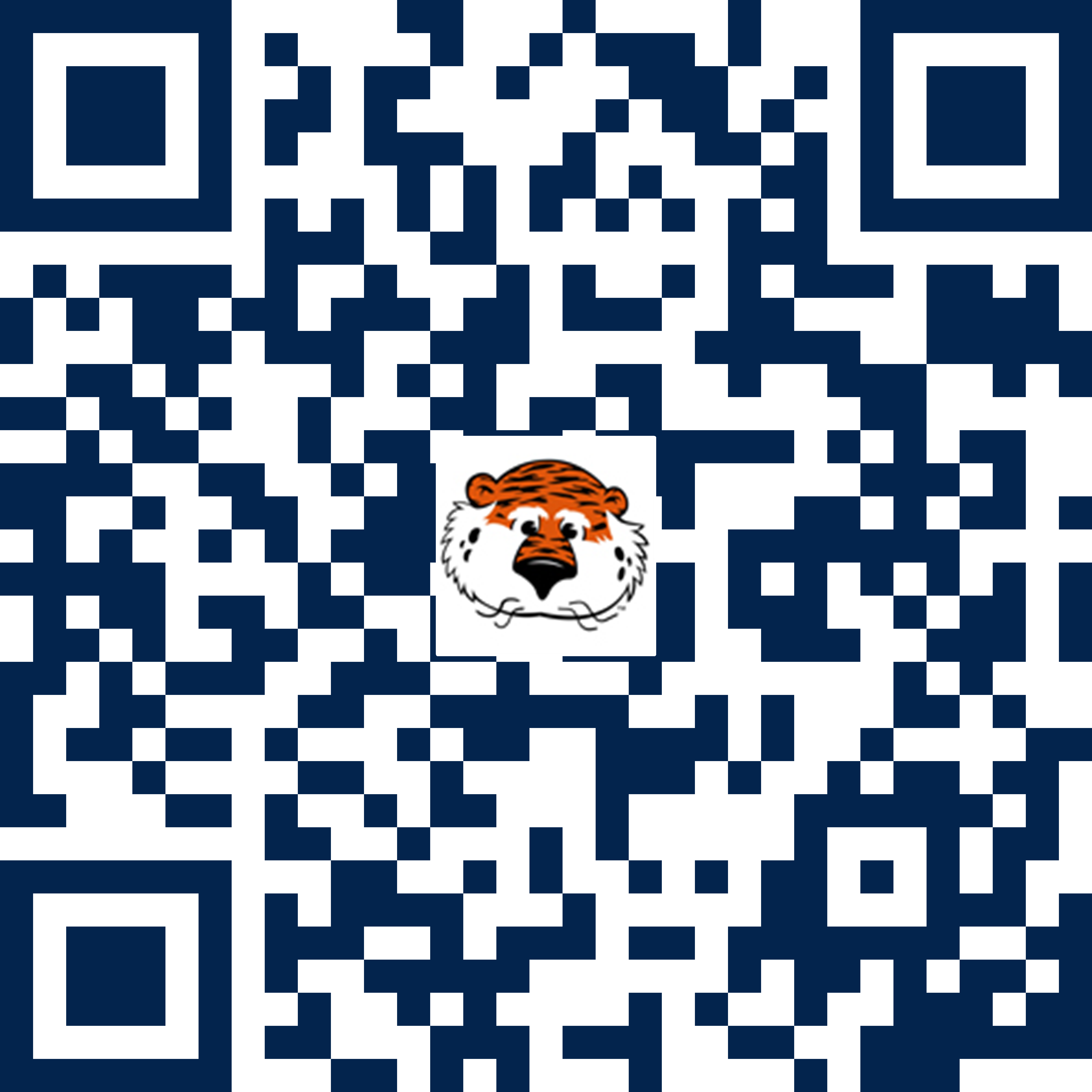 QR code for Alumni Tiger Giving Day with aubie