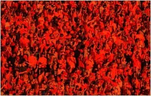 Student Section with orange film