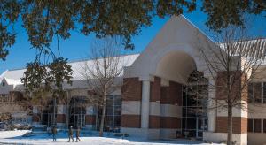 alumni center in snow