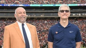 President Leath with Tim Cook
