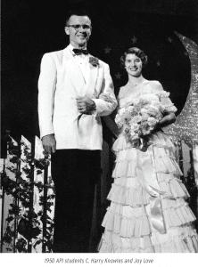 1950 API students C. Harry Knowles and Joy Love
