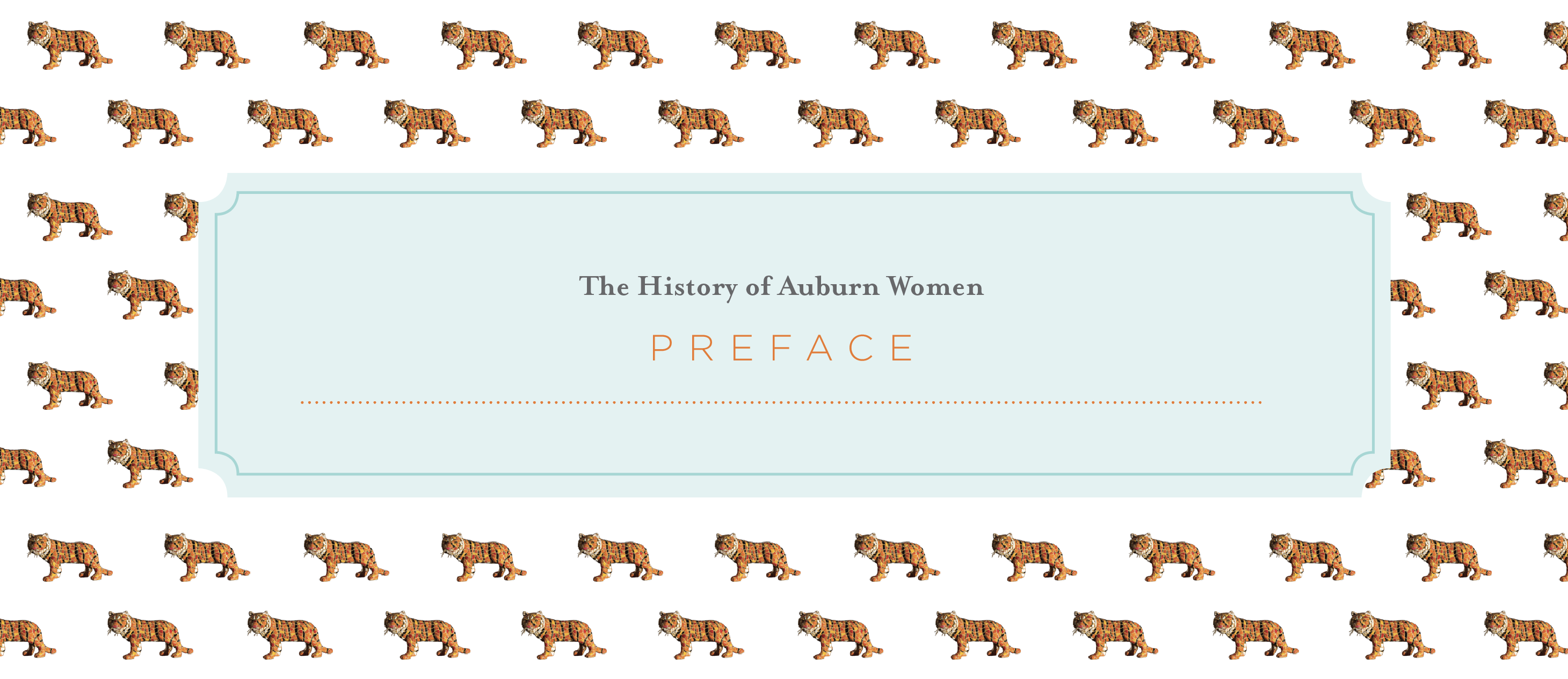 The History of Auburn Women Preface