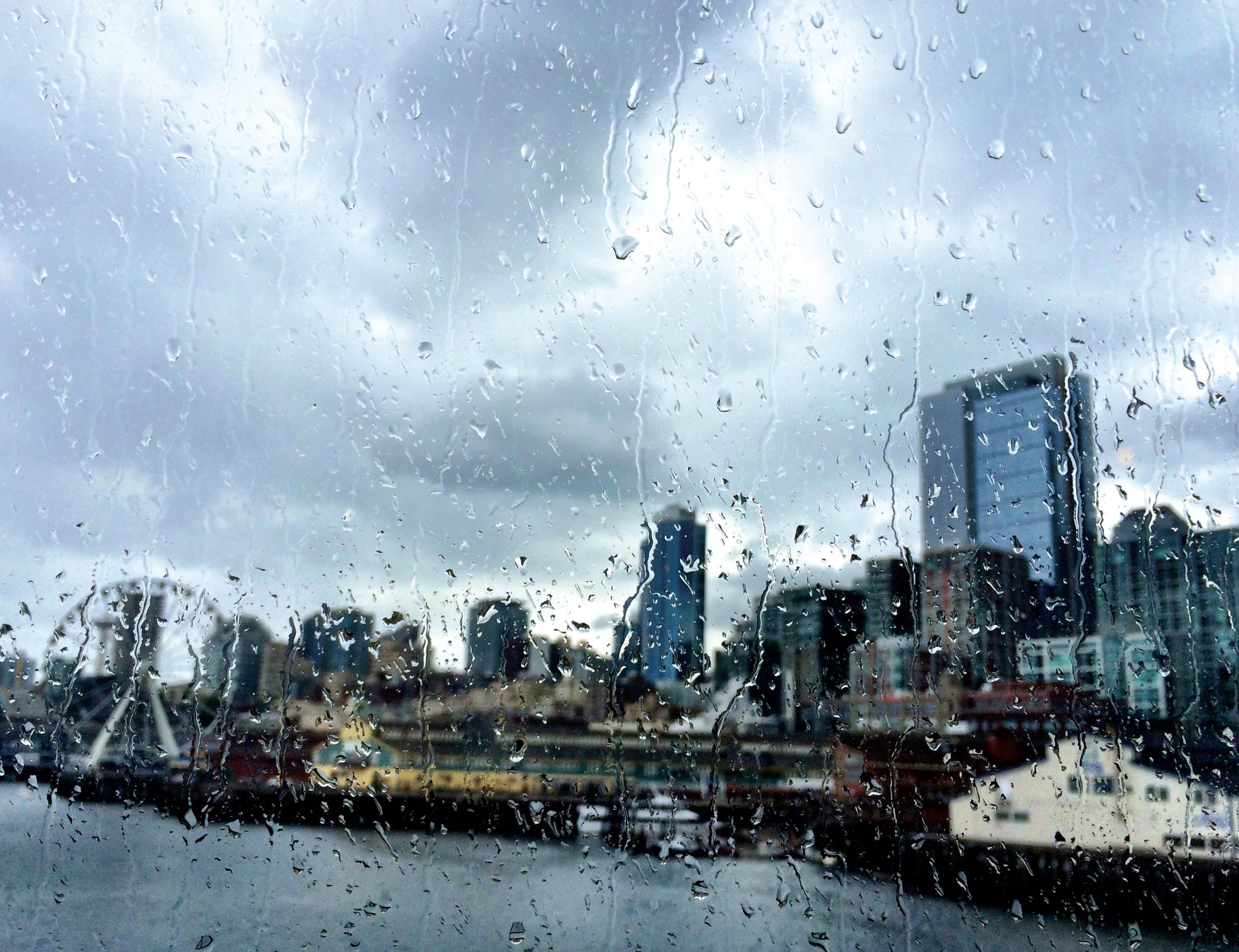 Rainy Window picture of Seattle