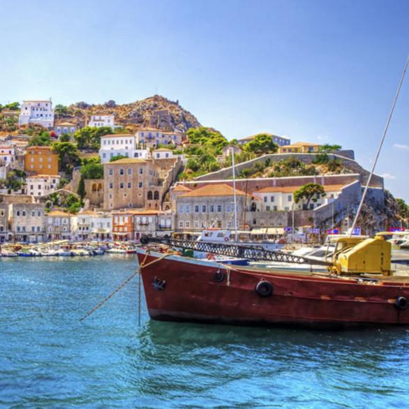 greece boat in water