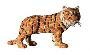 Mosaic tiger figurine