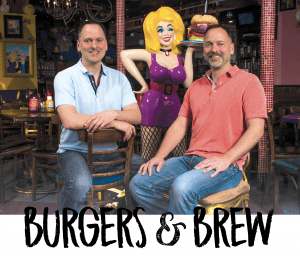 Burgers & Brew; Ashley and Brandon Wright