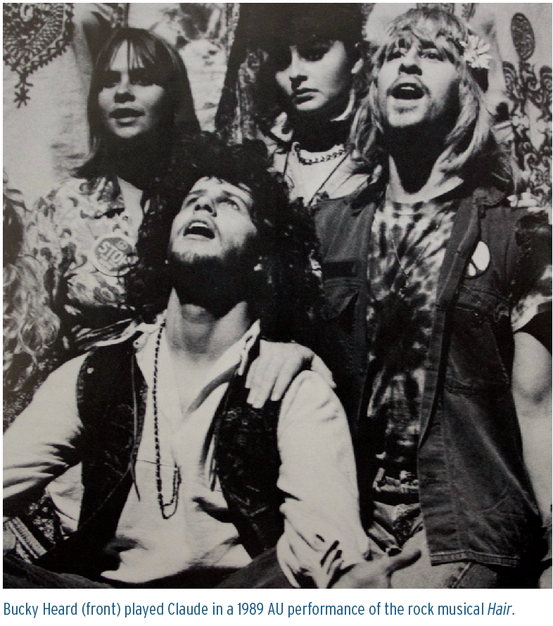 Bucky Heard (front) played Claude in a 1989 AU performance of the rock musical Hair.