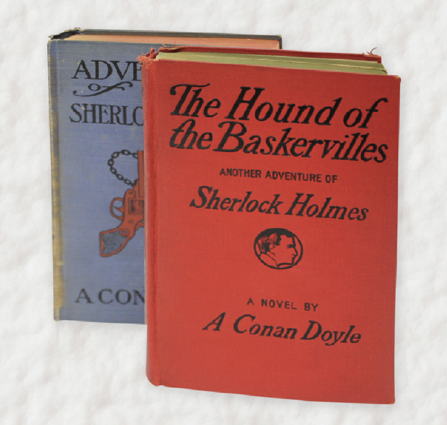 The Hound of the Baskervilles and Adventures of Sherlock Holmes by Arthur Conan Doyle