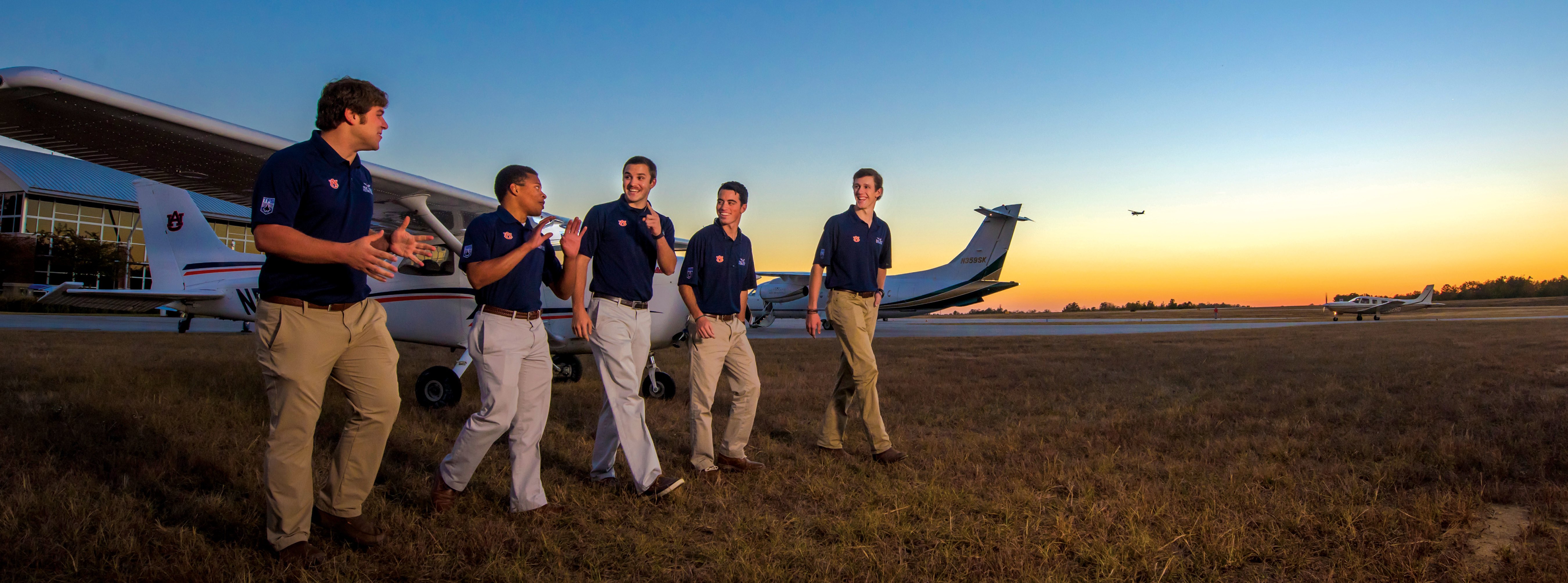Auburn aviation students