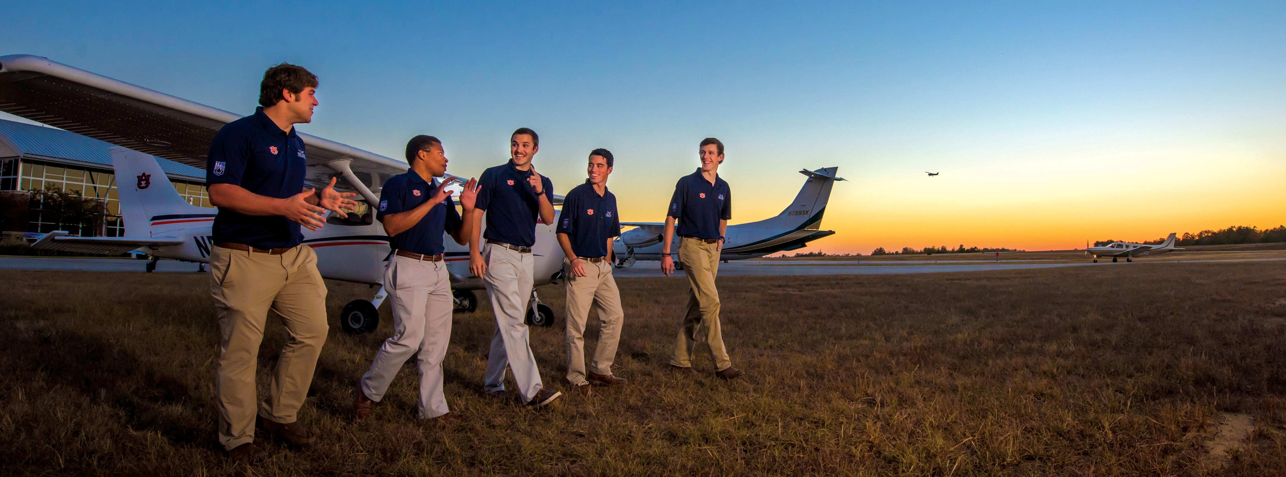 Auburn aviation students