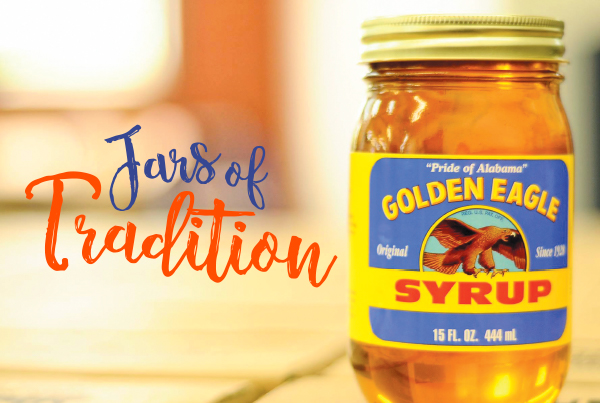 Jars of Tradition; jar of golden eagle syrup