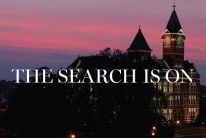 """Samford; """"The Search is On"""""""