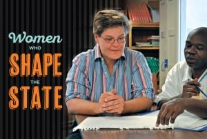 Women Who Shape the State; Kyler Stevens '94 and man