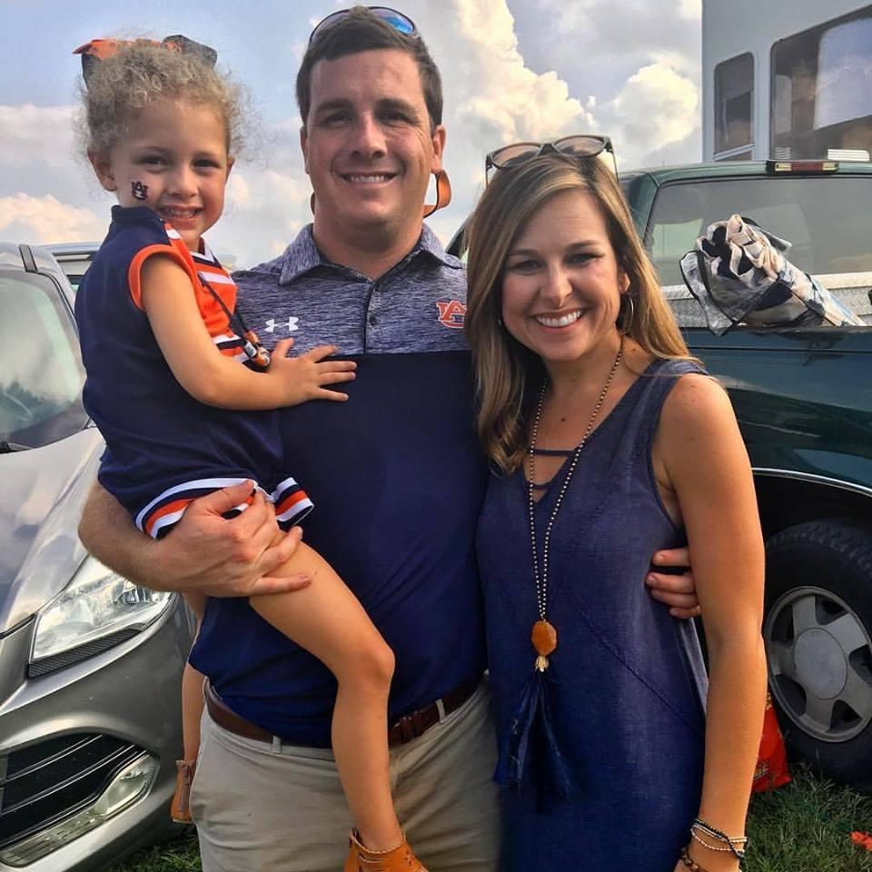 Kohn and her family at an Auburn game last season.