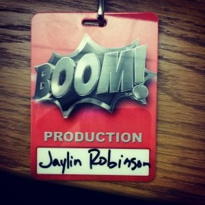"Robinson's credentials from her work on ""Boom!"""