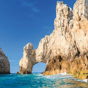 waves against rock