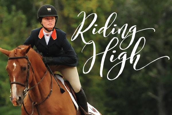 Riding High; Woman riding a horse