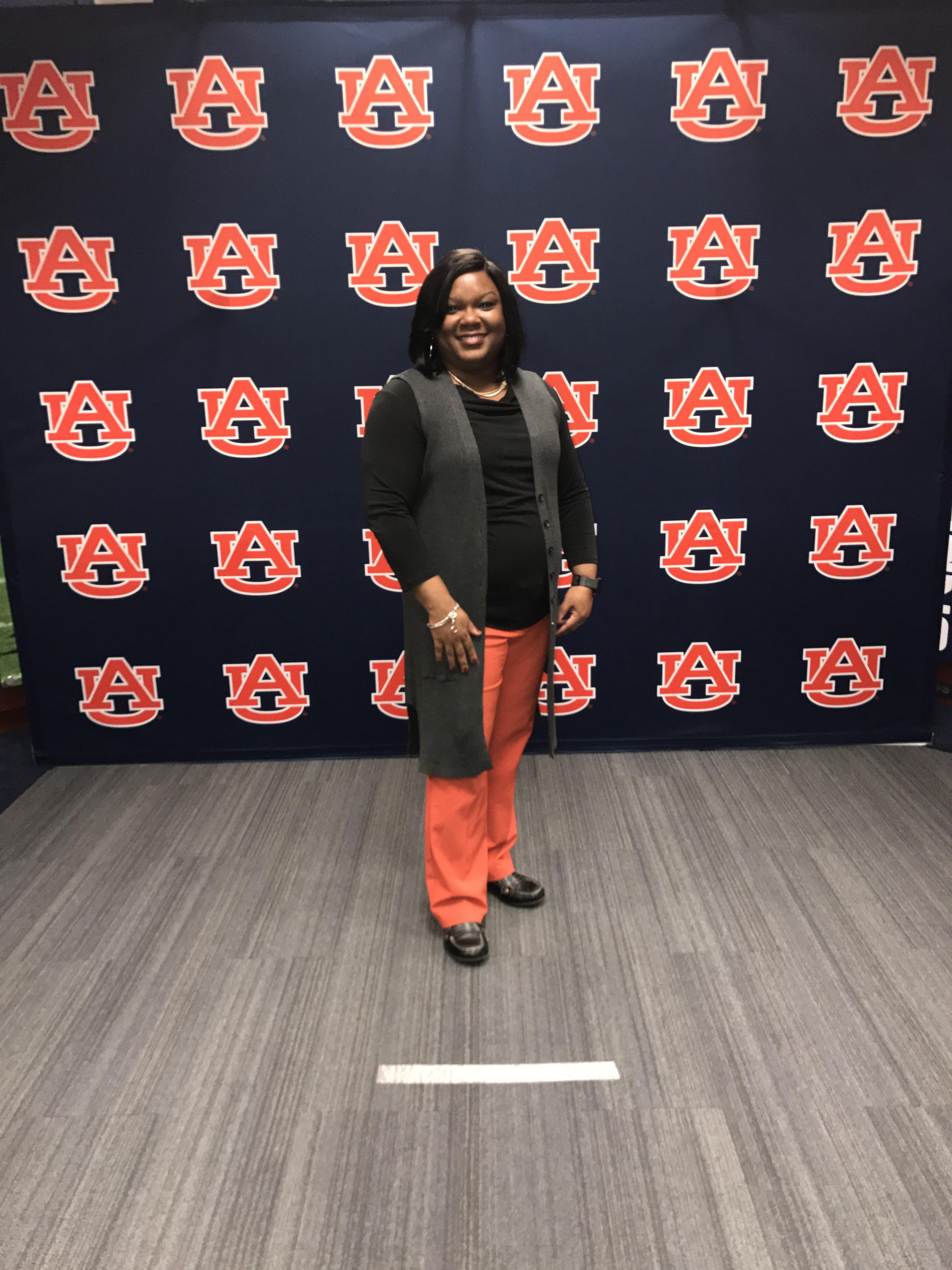 Hillman poses at Auburn this past year.