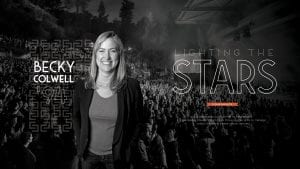 Beck Colwell '94, Lighting the Stars by Derek Herscovici '14, She became a social worker to help people. Now Becky Colwell '94 employs those people skills to manage one of the world's best-known venues.