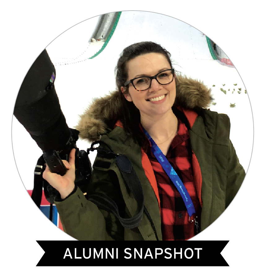 Shanna Lockwood at Olympics; Alumni Snapshot