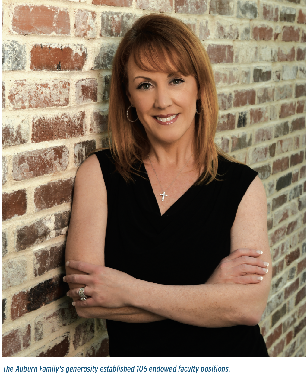 Beth Davis-Sramek; The Auburn Family's generosity established 106 endowed faculty positions.