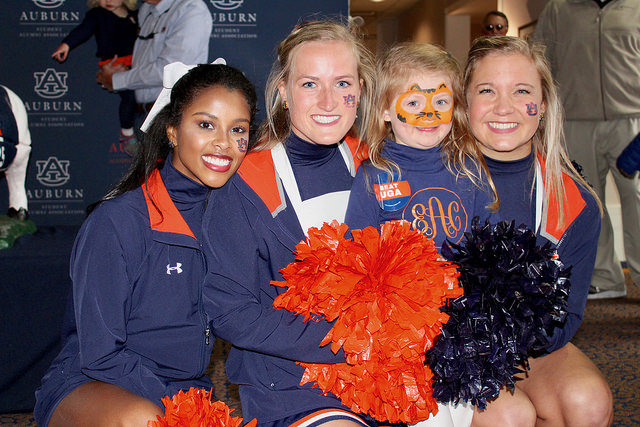 Cheerleaders at Hospitality Tailgate