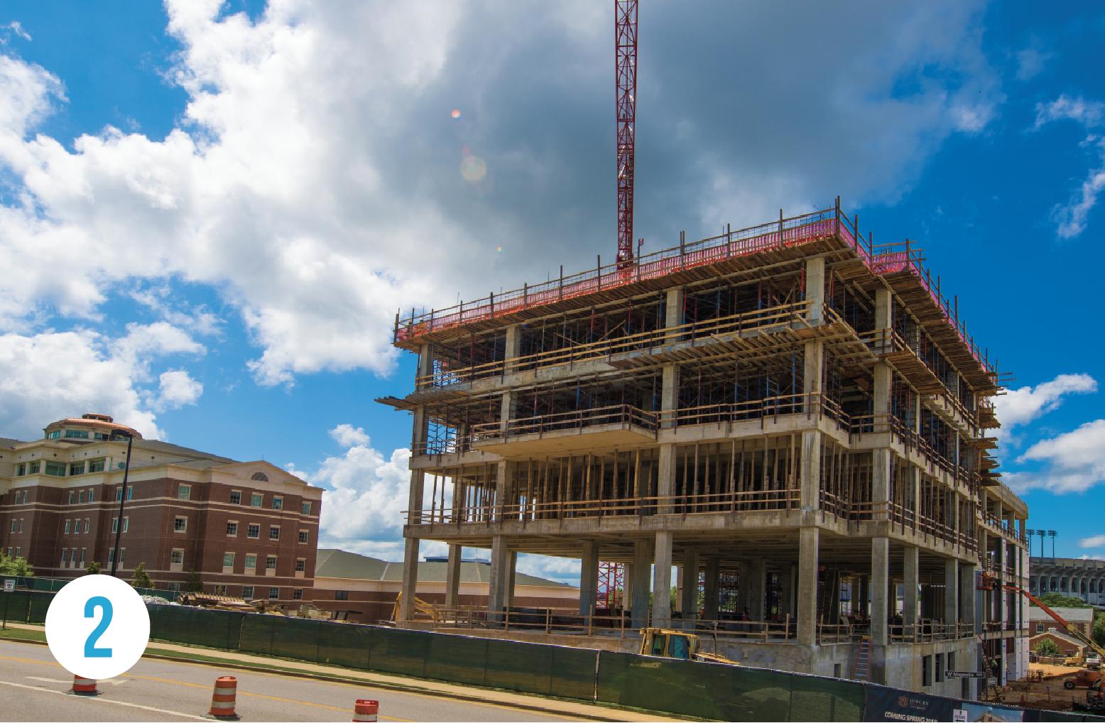 2 Harbert College Graduate Building under construction