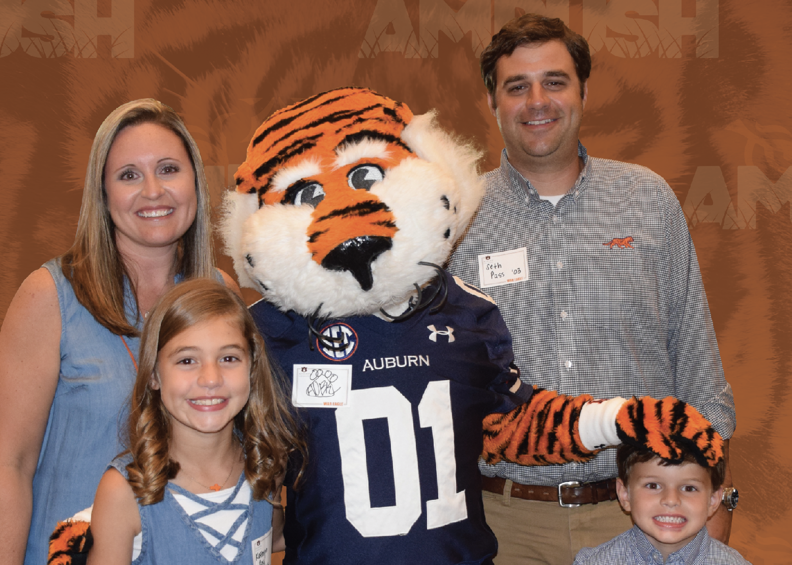 Family with Aubie